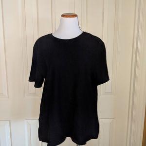 New Zara Basic Black Tee Size Large